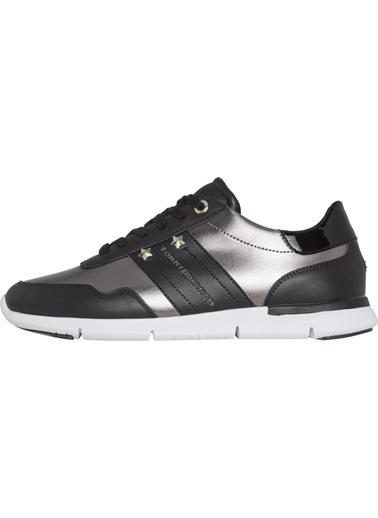 Tommy Hilfiger Kadın Essential Leathe Sneakers FW0FW03688 Siyah